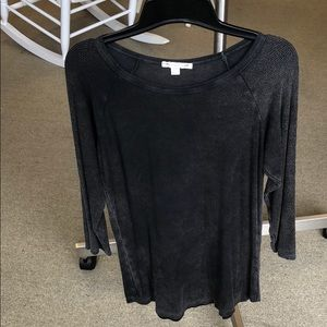 American Eagle Outfitters Tops - American Eagle Black faded/distressed top